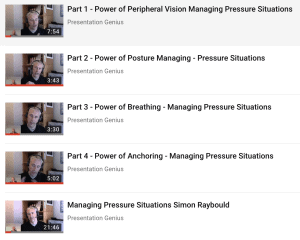 Youtube playlist handling nerves in your presentations