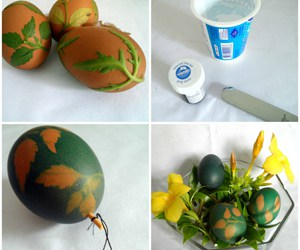 Easter Eggs with Food Coloring