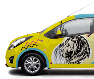 projekty graficzne oklejania aut