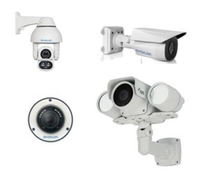 Full line of security cameras and lenses