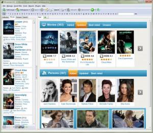 Screenshot van de interface van Movienizer