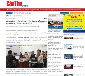 Báo Cần Thơ Online nói gì về khóa học QUẢNG CÁO Facebook của AZ COACH