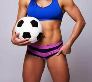 Soccer fit woman