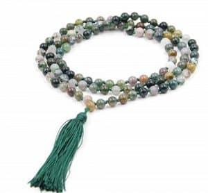 meditation agate mala beads