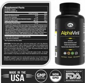 Alphaviril supplements for ed