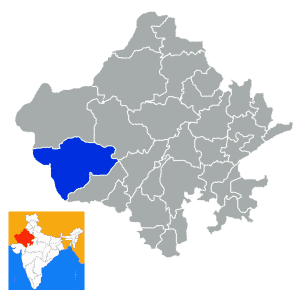 Barmer City in Rajasthan Map