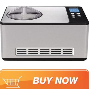Whynter ICM-200LS Stainless Steel Ice Cream Maker with built-in freezer