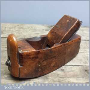 Antique Adjustable Wooden Compass Steel Sole Plane with Mathieson Iron