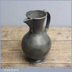 Antique Pewter jug with Touch marks - Old Pouring Vessel