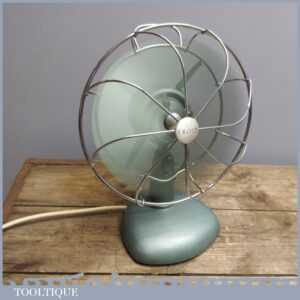 Good Vintage Retro Frost 240V Electric Desk Fan - Industrial Salvage PAT Tested