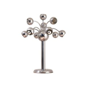 XL Lampe de Table Italienne en Chrome, 1970s