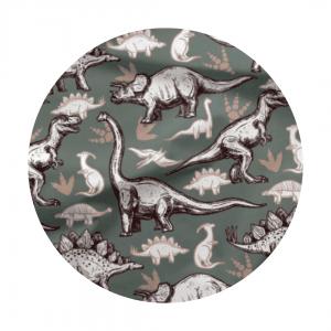 grey dino fabric