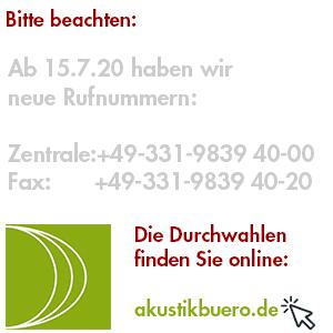 Akustikbüro Schallschutzgutachter Berlin Telefon