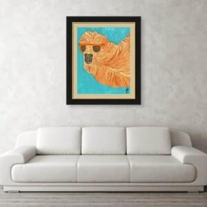 Joe Cool Camel, Oil Painting, Anita Louise Art
