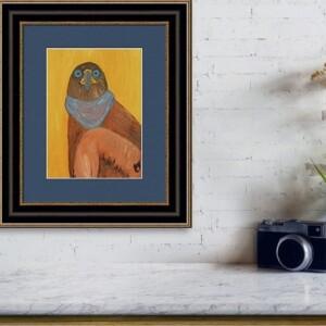 Khan the Eagle, Oil Painting, Anita Louise Art
