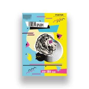 Projektowanie graficzne plakatu lew