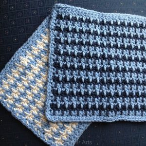 Spike Stripe Washcloth