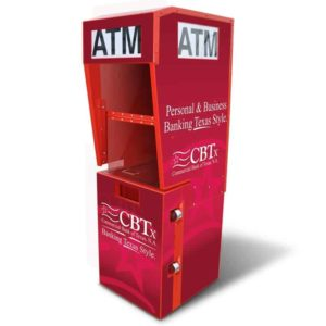 Outdoor ATM Kiosk with Lighted Topper Wrap