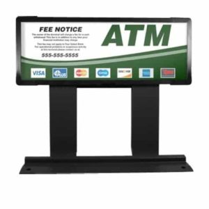 Custom ColorBrilliance Genmega / Hantle / Tranax Mini Bright ATM Graphic Topper Insert (15 x 5)