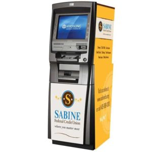 Hyosung MX5300CE Level 1 Custom ATM Shark-Skin Graphic Wrap