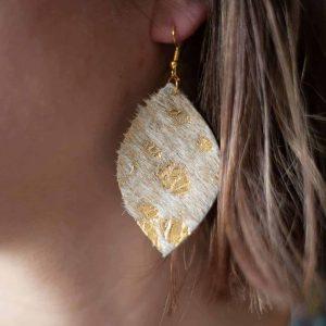 Acid Wash Leather Earrings