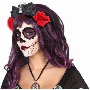 Atosa-Diadema-Halloween-Sombreros-Diademas-diadema-calavera-mexicana