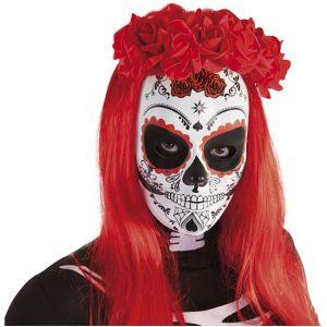 Rubies-Diadema-Katrina-rosas-Muertos-diadema-calavera-mexicana