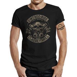 GASOLINE-BANDIT®-Camiseta-Manga-Hombre-camisetas-de-calaveras