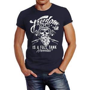 Neverless-Camiseta-hombre-calavera-Freedom-camisetas-de-calaveras