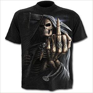 Spiral-Bone-Finger-Camiseta-Negro-camisetas-de-calaveras