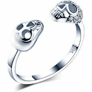 anillos de calaveras para mujer