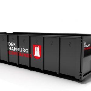 Abrollcontainer mit 18 Kubikmeter Volumen