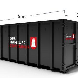 Abrollcontainer mit 24 kubikmeter Fassungsvermögen