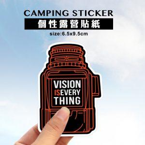 露營防水貼紙