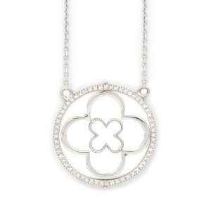 Faith White Gold Pendant Front