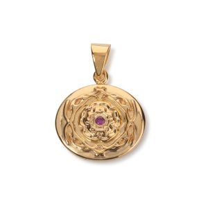 Stanhill 18k Yellow Gold Plated Pendant with Rubies