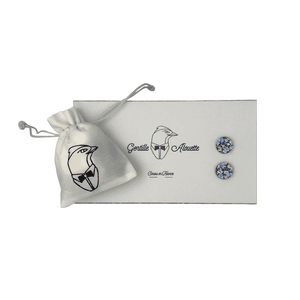 boutons de manchette pepper bleu liberty packaging gentille alouette