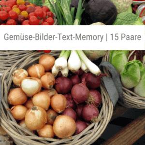 Gemüse-Bilder-Text-Memory-Spiel