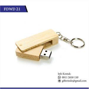 FDWD21 Flashdisk Kayu Gantungan Kunci
