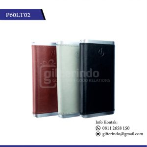 P60LT02 Powerbank Kulit Custom Logo