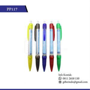 PP117 Custom Pulpen Promosi Plastik