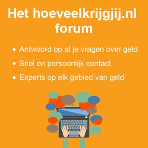Forum Hoeveelkrijgjij.nl