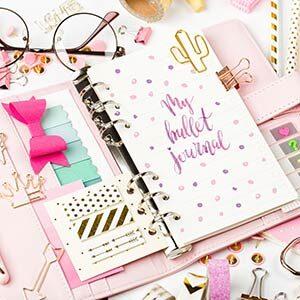 pink bullet journal