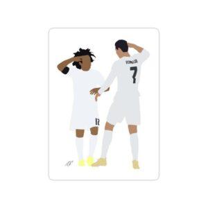 استیکر رئال مادرید - رونالدو و مارسلو