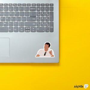 استیکر لپ تاپ میم جردن روی لپتاپ
