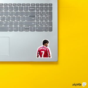 استیکر لپ تاپ استعداد پرتغالی روی لپتاپ
