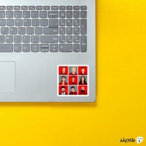 استیکر لپ تاپ پوستر شخصیت های سریال روی لپتاپ