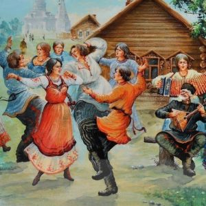 """""""Весёлая кадриль"""" (""""Когда-то россияне""""). Ноты для гармони."""