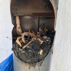 Feuchtigkeit im Keller verstopftes Regenrohr 300x300 - Feuchtigkeit im Keller - Ursachen und Beseitigung