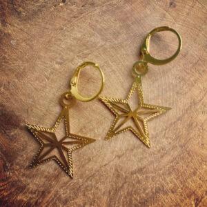 Stars – Handgemaakte Xmas oorringen
